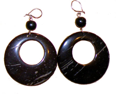 coconut earrings round