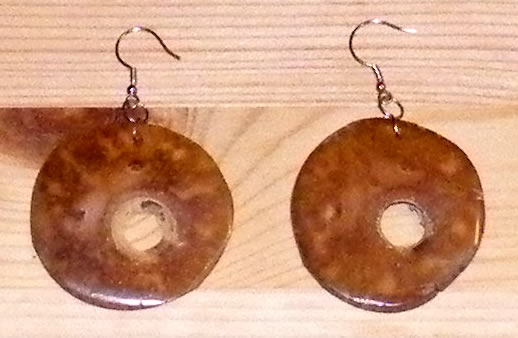 coconut piacava earrings